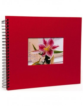Spiral album Jalan 34x30 cm red