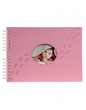 spiral bounded photo album PILOO pink 32 x 22 cm 50S