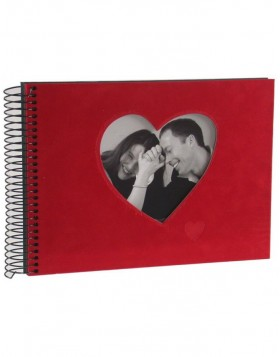 Spiral bound photo album Rosso