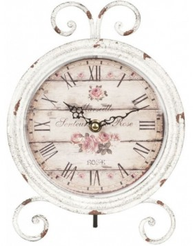 grandfather clock white/shabby - 6KL0211 Clayre Eef