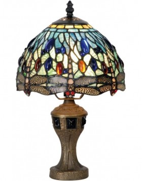 Stehlampe Tiffany Libelle bunt � 21x33 cm