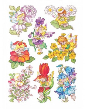 Decorative label DECOR flower elves 3 sheets