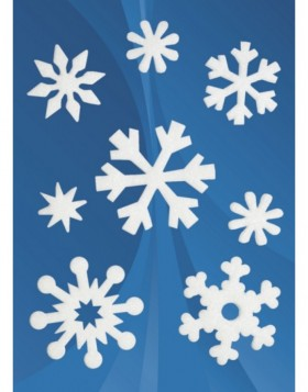 MAGIC decorative stickers ice crystals, felt, 1 sheet