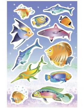 Decorative labels MAGIC seafish, popup 1 sh.