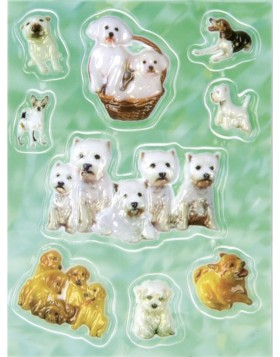 Decorative labels MAGIC dogs Popup 1sh.
