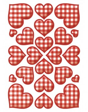 Heart stickers 3 sheets