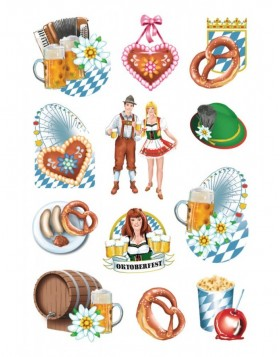 Stickers Oktoberfest, bavaria 3 sheets