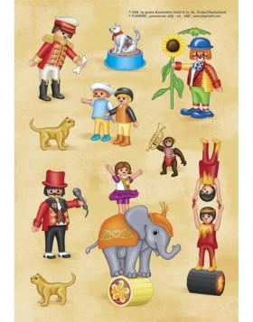 decorative labels Playmobil Zirkus 2 sheets
