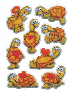 Stickers - turtles with moving eyes