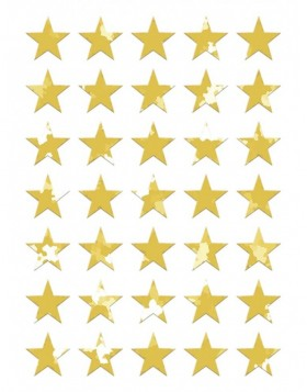 MAGIC stickers Christmas stars prismatic film gold 1 Bl