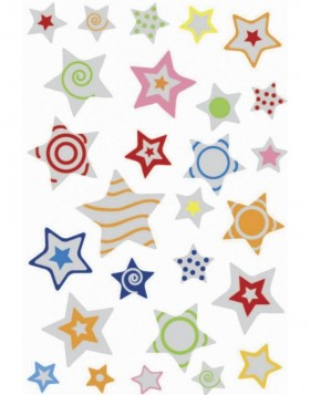 Decorative stickers MAGIC stars, puffy 1 sheet