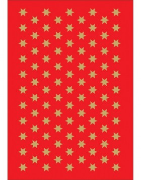 DECOR stickers Christmas stars gold foil 3 sheets