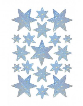 DECOR stickers stars holography gold 1 sheet