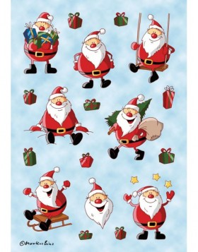 decorative labels DECOR Weihnachtsmann 3 sheets
