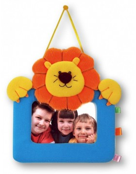 Fabric Picture Frame Lion 10x15 cm