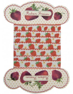 Stoffband STRAWBERRIES 120 cm