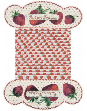 Stoffband STRAWBERRIES 535 cm