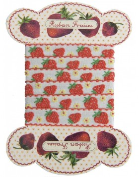 Stoffband STRAWBERRIES 84 cm