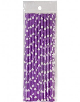 straws 20 pieces purple/aubergine