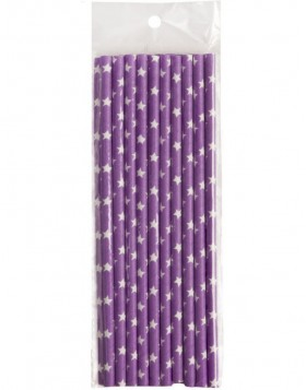 straws 20 pieces purple