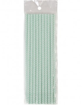 straws STRIPES II 20 pieces light-blue