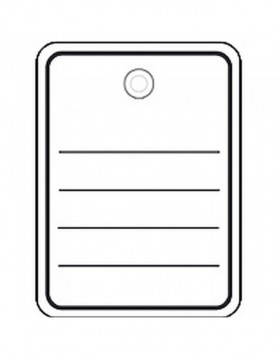 Merchandise tags 48x65mm with plastic eyelets / string...