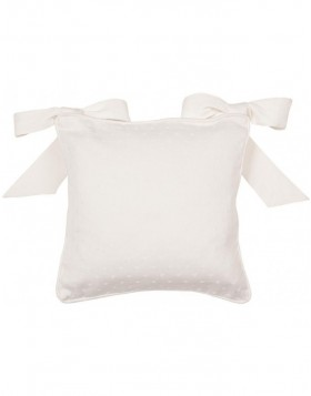Chair cushion 40x40 cm Dot Jaquard white