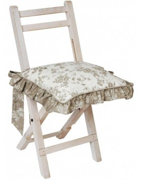 Chair cushion 40x40 cm ruffle EDC Etoffe de Clayre