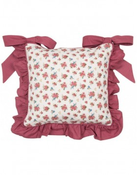 Chair cushion 40x40 cm Ruffle Rose and bird