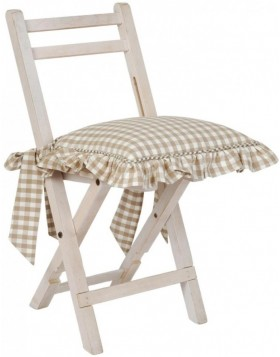 Chair cushion 40x40 cm nature CAO Chicken all over
