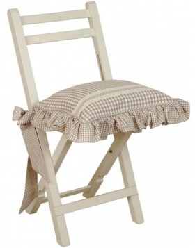 Chair cushion 40x40 cm nature FB Flower Basket
