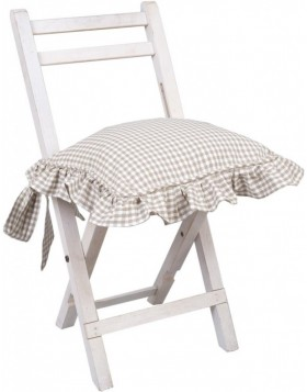 Chair Cushion 40x40 natural Just check