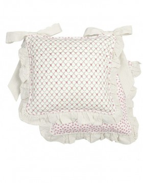 Chair cushion ElegantRose with ruffle