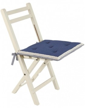 Chair Cushion Flower Basket blue 40x40 cm with foam filling
