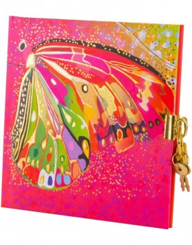 diary Flower pink Butterfly