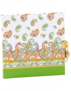 Paisley diary with lock