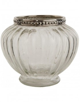 glass tea light holder � 9x8 cm