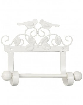 BIRDS toilet roll holder white - 6Y1451W Clayre Eef