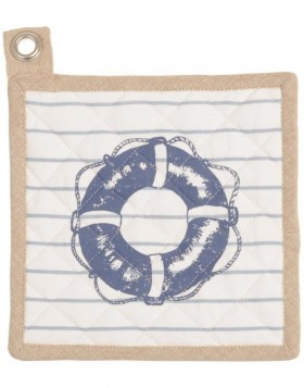 Potholders At the Harbour blue