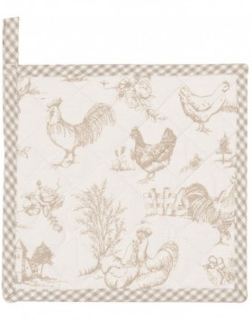 Topflappen Chicken Family beige