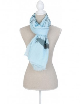 180x70 cm synthetic scarf SJ0640BL Clayre Eef