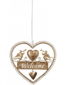 door decoration WELCOME gold - 6Y1291S Clayre Eef