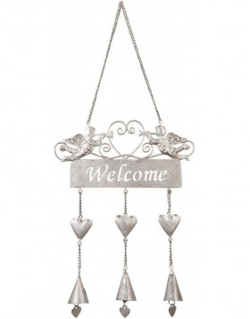 door decoration WELCOME silver - 6Y1309S Clayre Eef