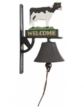 doorbell with cow 22x32 cm