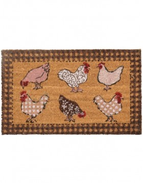 T�rmatte Chicken all over rot 75x45 cm