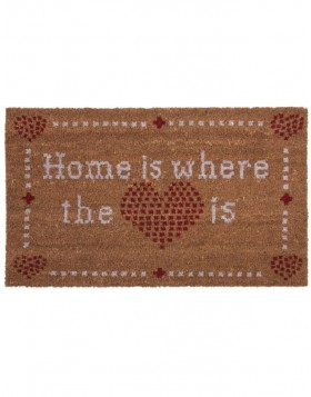 T�rmatte HOME IS WHERE THE LOVE IS 75x45 cm