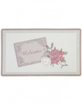 T�rmatte in H�kel-Optik mit Rose 74x44 cm