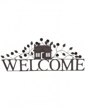 doorplate made of iron WELCOME 70x28 cm