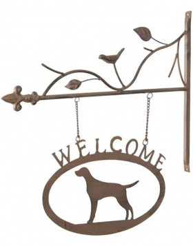 doorplate Welcome/Dog 6Y1371