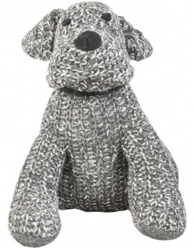 cotton door stopper DOG grey